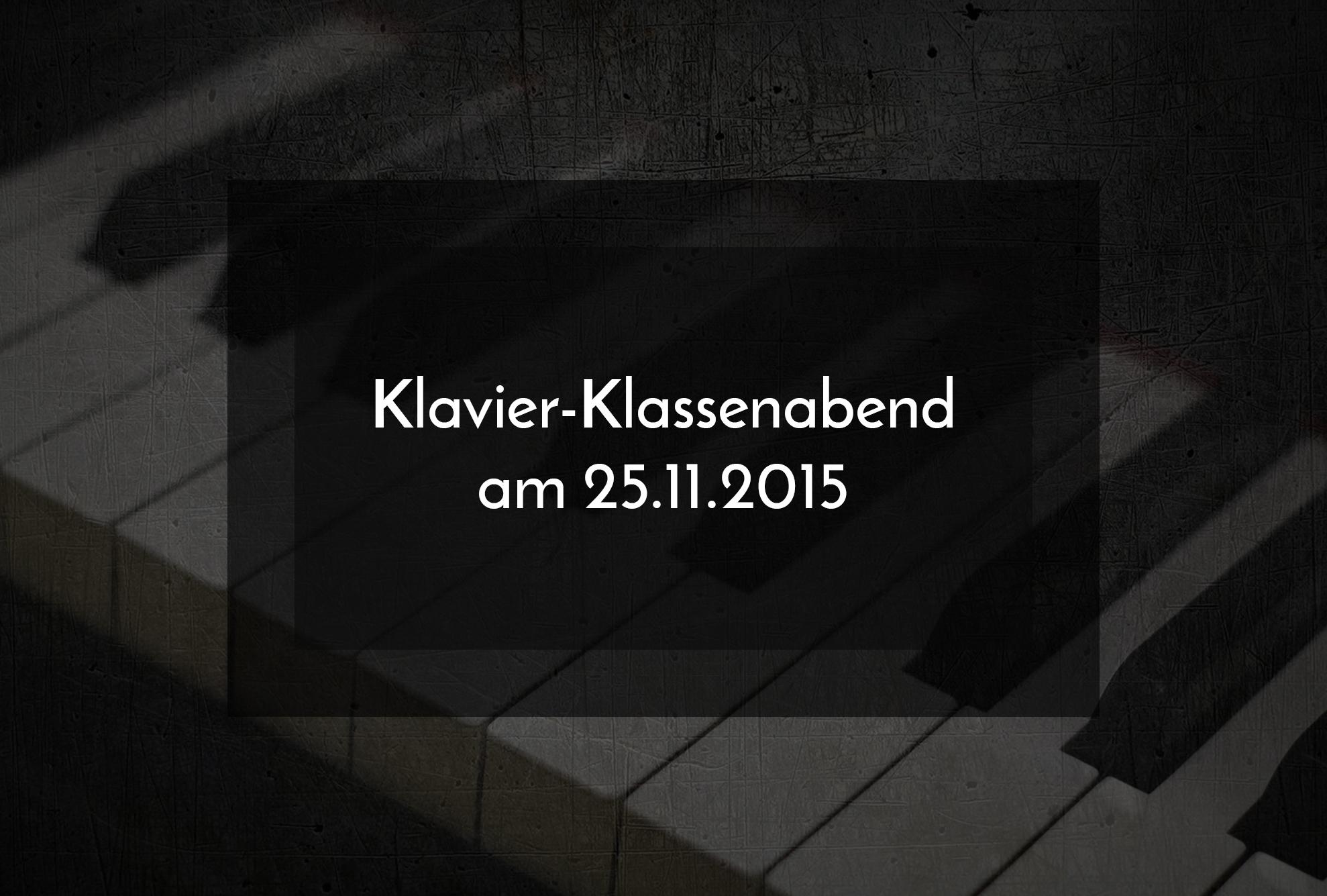 Klavier-Klassenabend am 25.11.2015